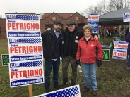supporters at the polls.